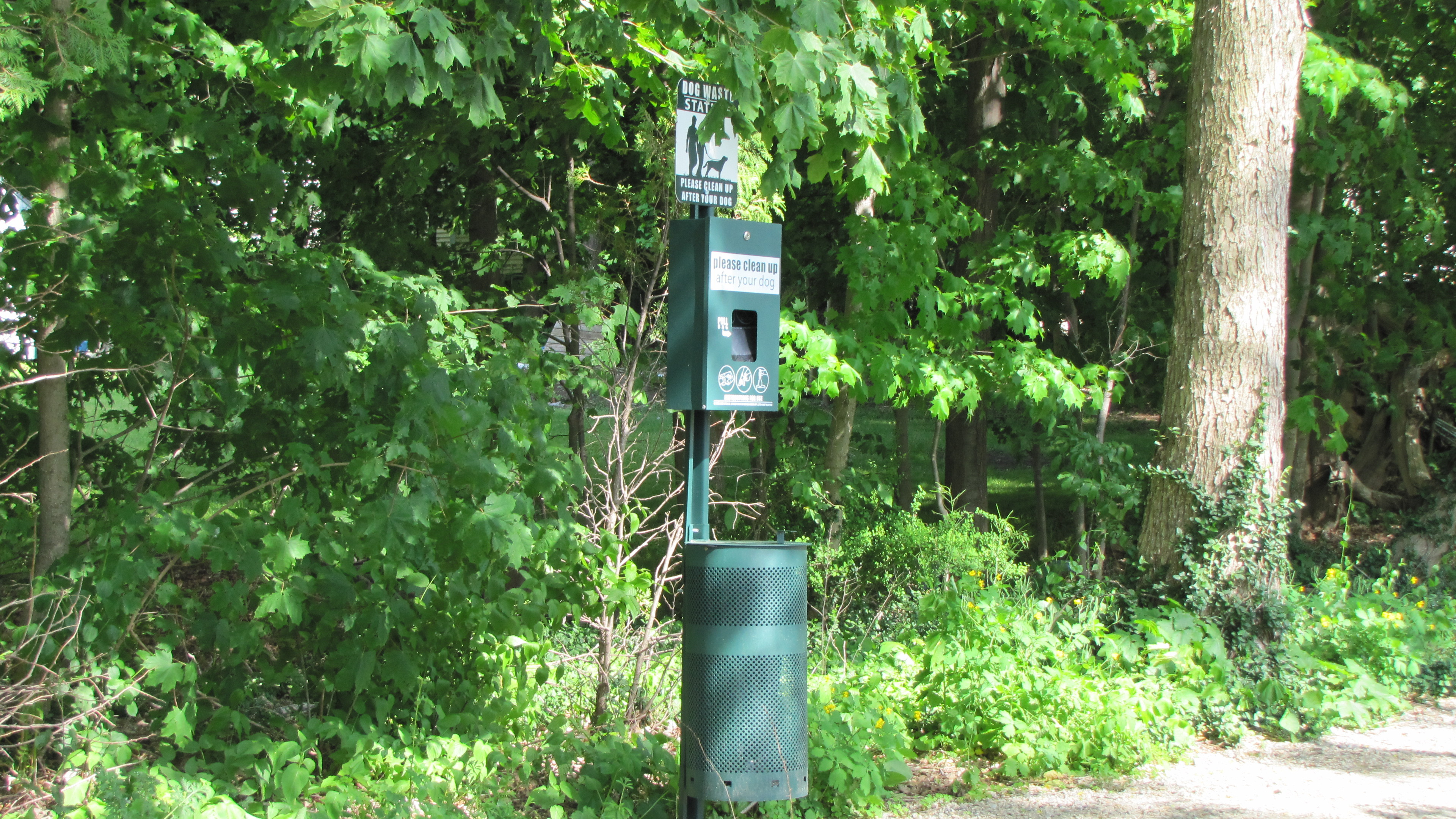 Pet Waste Stations on the Trail